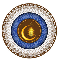 ramadan greeting ornament pattern vector image