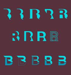 Rb or br monogram logo set vector