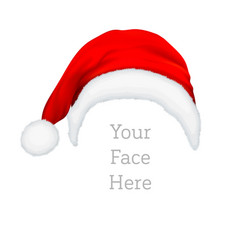 realistic red santa claus hat icon isolated vector image