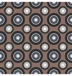 Retro car wheel seamless pattern vector image