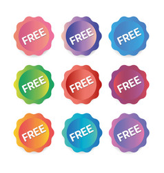 round stickers banners campaign collection vector image