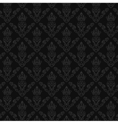 Seamless Damask Wallpaper 2 Gray Color vector