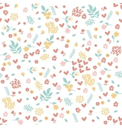 Seamless floral pattern flowers texture vector