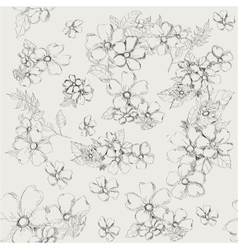 Seamless pattern with decorative poppy flowers on vector