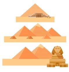 set piramides vector image