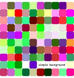 Simple background of colored squares and shadows vector image