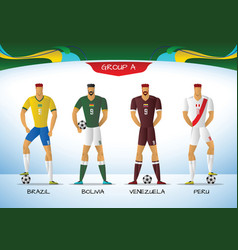 soccer or football south america team uniform vector image