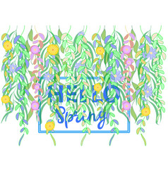 spring greeting on a white background multicolored vector image