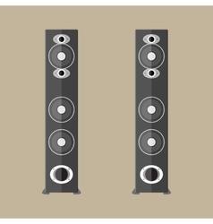stereo speakers in black vector image