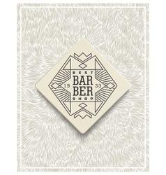 Stylish poster design for Barbershop vector image