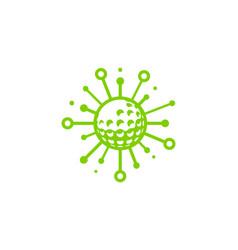 tech golf logo icon design vector image