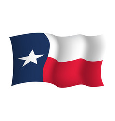 Texas state waving flag vector