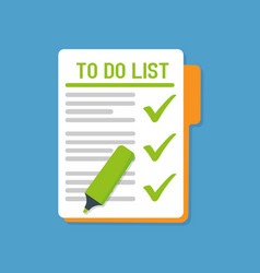 To do list flat icon vector