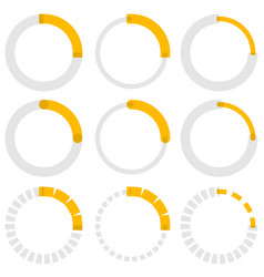 transparent progress indicators preloaders phase vector image