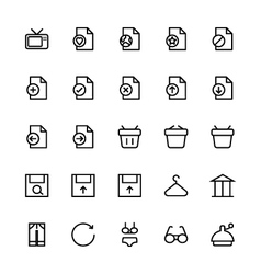 User interface colored line icons 36 vector