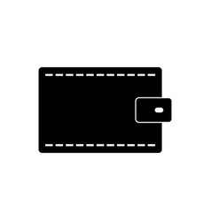 Wallet icon in on white background vector