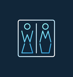 women and men toilet creative icon vector image