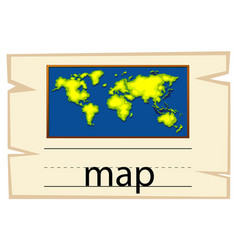 Wordcard template for word map vector