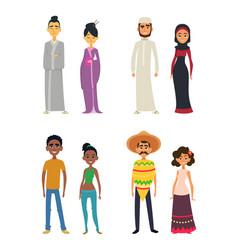 worldwide group international peoples in vector image