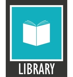 simple icon library Opened white book vector image