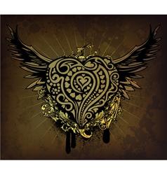 vintage valentine emblem vector image vector image