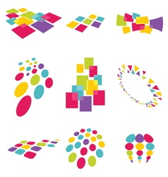 Collection of modern abstract design elements vector image