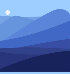 color landscape with vector image vector image