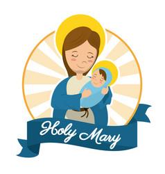 holy mary baby jesus catholic statue image vector image vector image