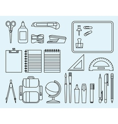 School and office supplies vector image vector image