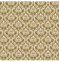 Seamless Damask Wallpaper 3 Beige Color vector image vector image