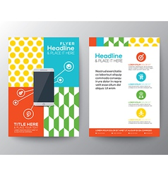 Graphic Design Layout with smart phone concept vector image vector image