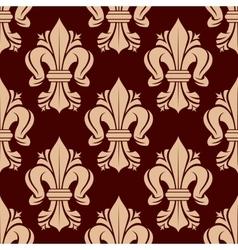 Heraldic fleur-de-lis tracery elements seamless vector