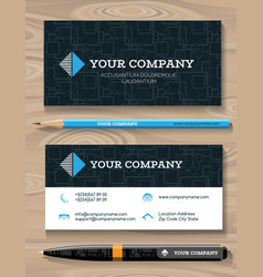 business card and promotional gift template vector image