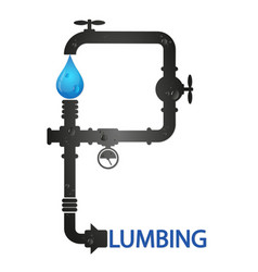 plumbing and pipeline design vector image