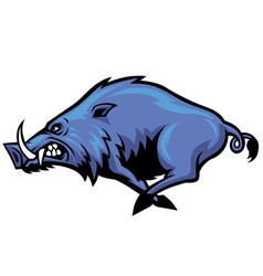 running wild hog mascot vector image vector image