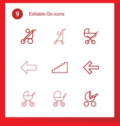 9 go icons vector