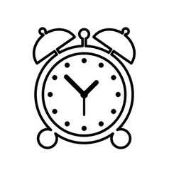 alarm clock icon vector image