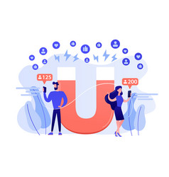 Attracting followers concept vector