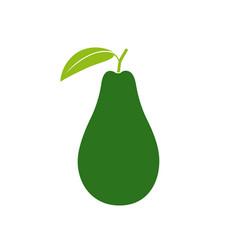 Avocado badge vector