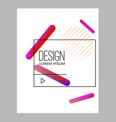 banner design templates with abstract vibrant vector image