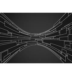 Black futuristic vector