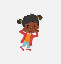 Black girl something sick and dizzy vector