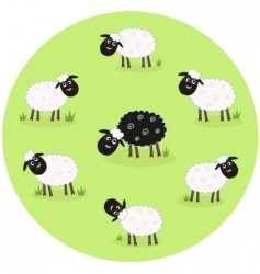 Black sheep vector
