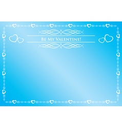 blue card - be my valentine vector image