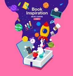 Book inspiration back to school planet science vector