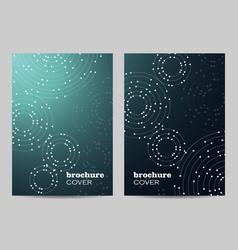 Brochure template layout design geometric pattern vector
