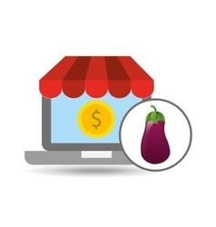 buying online eggplant vegetable icon vector image