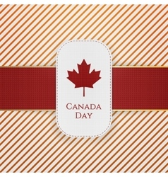 Canada Day paper Tag with red Ribbon vector image