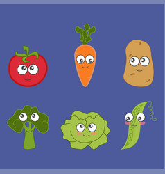 Cartoon vegetable cute vector