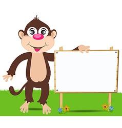 Cheerful monkey Cartoon vector